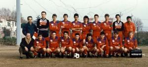 La formazione Campione Regionale Juniores nel 1986