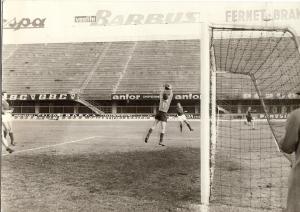 Un allenamento allo Stadio Comunale con la Fiorentina negli anni 60